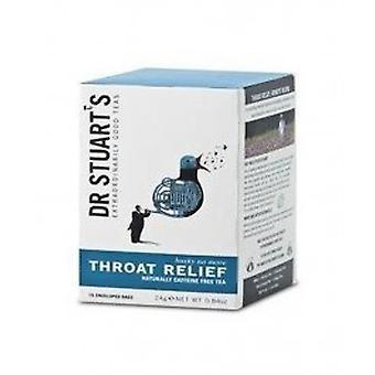 Dr Stuarts - Throat Relief Enveloped Tea 15bags X 4