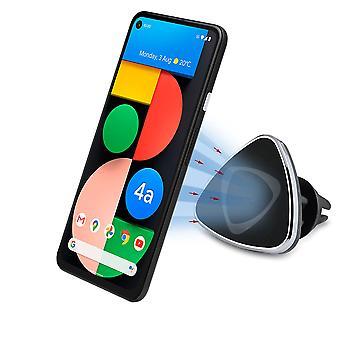グーグルピクセル4a 5Gのためのインベントケースエアベント車マウント磁気ホルダー
