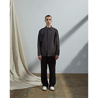 The #3001 buttoned overshirt faded black