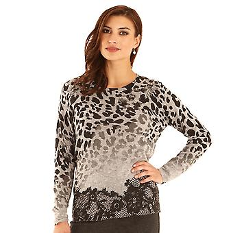 POMODORO Pomodoro Grey Sweater 32057