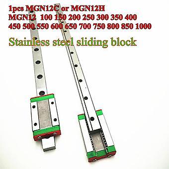 خطي دليل Mgn12 السكك الحديدية الطريق + Mgn12c أو Mgn12h النقل الطويل