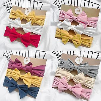 Baby Headbands For Newborn Hair Cute Bow Flower Elastic Turban Accessories
