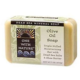 Un avec savon de barre d'amande de nature, huile d'olive, 7 oz