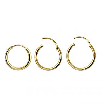 9K Gold 8mm Segment Hoop Nose Ring