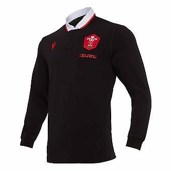 2020-2021 Wales Vaihtoehtoinen LS Cotton Rugby Shirt