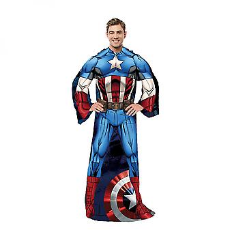 Captain America ensimmäinen kostaja aikuinen hihainen puku huopa