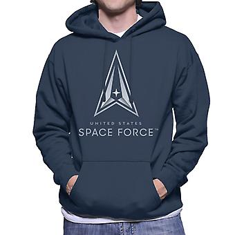 U.S. Space Force Classic Logo Light Text Men's Hooded Sweatshirt