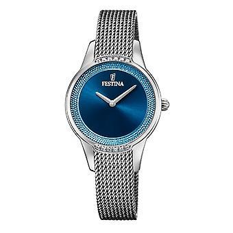 Festina F20494-2 Women's sininen valitsin verkkohihna rannekello