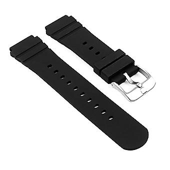 Strapsco rubber watch band for luminox sentry series 0200