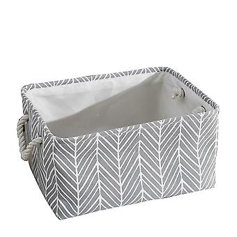Fabric Storage Basket, Clothes Folding Storage Box For Nursery Underwear Toy