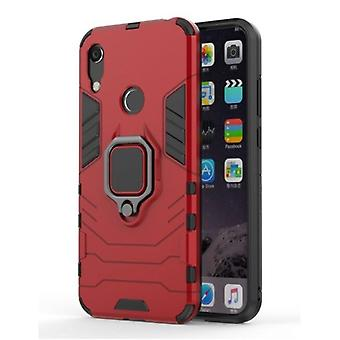 Keysion Huawei Y5 2019 Case - Magnetic Shockproof Case Cover Cas TPU Red + Kickstand