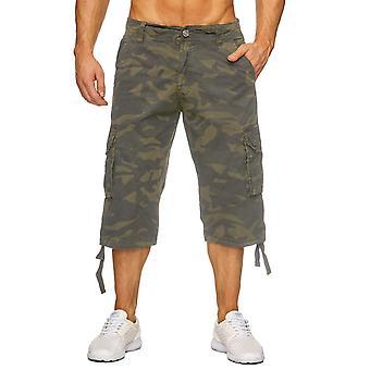 Män Bermuda Shorts Cargo Pant 100% bomull sommaren denim cargoshorts kort svart vit beige