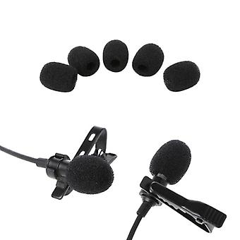 Round Ball Lavalier Mikrofon Schaum -Windschutzscheibe Schwamm Windschutzscheiben