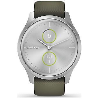 Garmin SmartWatch vivomove STYLE Silver-Moosgruen 010-02240-01