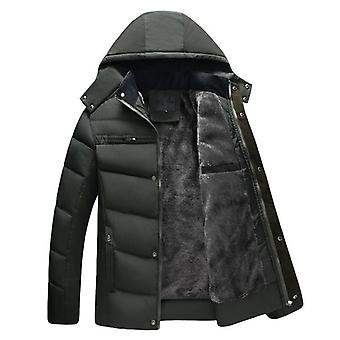 New Winter Jacket Men Thicken Warm Parkas Hooded Fleece Jackets Outwear Cotton