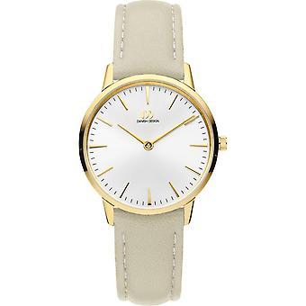 Dänisches Design Akilia Uhr - Taupe/Weiß