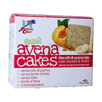 Sweet Avenacakes and oatmeal cookies with muesli and fruits 250 g