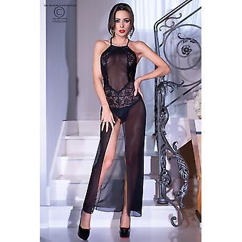 Vestido largo CR4269 de tamaño negro: XL