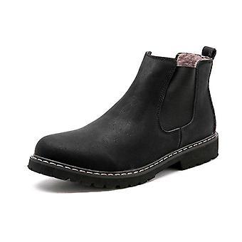 Zimní Chelsea Plyšová kožešina kožená obuv boty