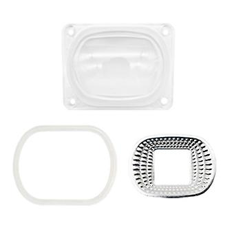 Lens Reflector For Led Cob Chip With Silicon Ring