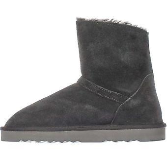 شركة & نمط سيلي النسائي الجلود مغلقة إصبع القدم الكاحل أحذية الطقس البارد