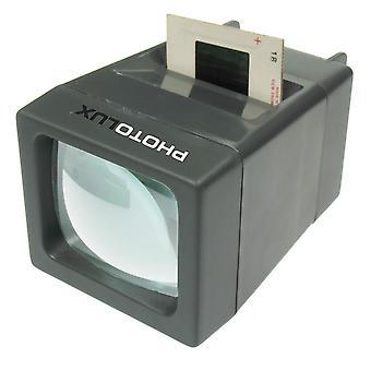 Photolux sv-2 led daglicht desktop slide viewer : 2x vergroting : voor 35mm dia's : batterijen niet