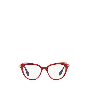 Miu Miu MU 01QV red / top transparent red female eyeglasses