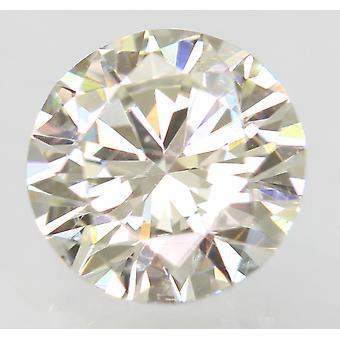 Certified 0.60 Carat H VVS2 Round Brilliant Enhanced Natural Loose Diamond 5.47m