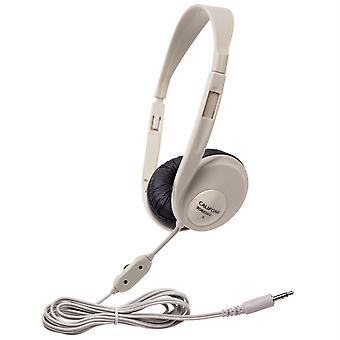 Califone Multimedia Stereo Headphone, Beige