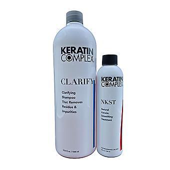 Keratin Complex Clarifying Shampoo 33 OZ & Keratin Smoothing Treatment 8 OZ Set