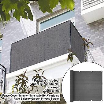 Fence Cover Privacy Screen Sewing Buckle Breeze With Ties