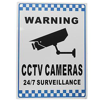 CCTV Warning Sign Security Video Surveillance Camera Safety Sign Reflactive Metal