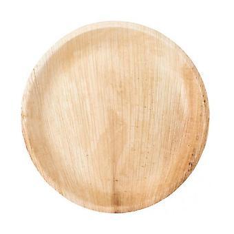 Round Palm Leaf Plate 18 cm Ø 25 units