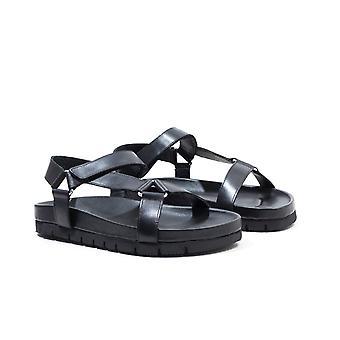 Grenson Lyndon Leather Sandal - Black