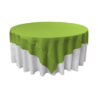 La Leinen Polyester Poplin Quadratische Tischdecke, 90 Mal 90 Zoll, Lime