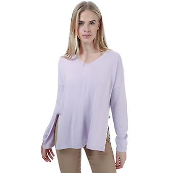 Women's Only Amalia V-Neck Jumper in Paars