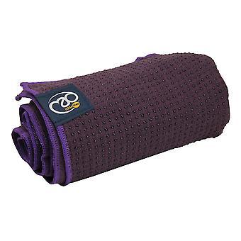 Фитнес ума сцепление точка йога коврик полотенце - баклажан