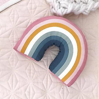 Rainbow U Shape Kids Pillow Decorative Room Neck Cushion Cute Baby Sleep
