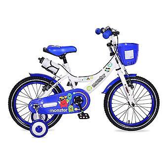 Bicicleta para niños Byox 16 pulgadas 1681 azul, ruedas de apoyo, cesta delantera, portavasos
