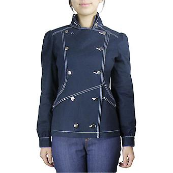 Chic Star Double-Breasted Military Jacket In Navy