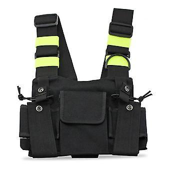 Радиос Карманный сундук Harness груди передний пакет мешок Хольстер Вест Rig Carry Дело