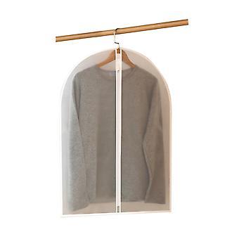 ハンギングガーメントバッグ、クリアフルジッパー防水防塵服カバーバッグ、PEVAフロストコートダストバッグ家庭用