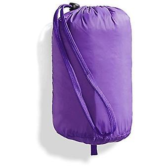 Essentials Big Girls&Apos; Lätt vattentålig packbar pufferjacka med huva, mörklila, medium