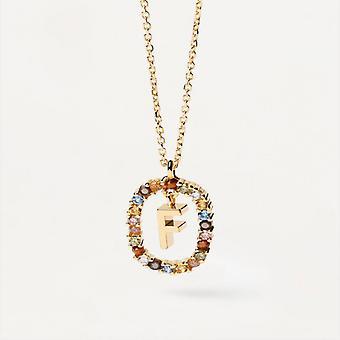 Halsband Kvinnor P D Paola CO01-265-U - Plaqu guld Dor