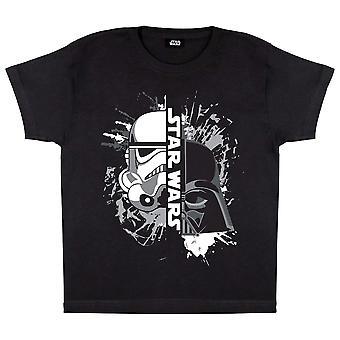 Star Wars Girls Vader en Stormtrooper Masker T-Shirt