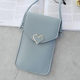 Women Wallet, Flower Print Leather Shoulder Bag