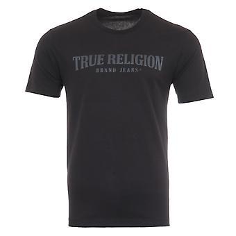 True Religion Arch Logo T-Shirt - Black