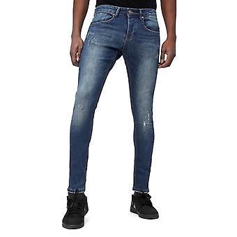 Skinny Basic Jeans - Man Jeans Washed - D3021 - Blue