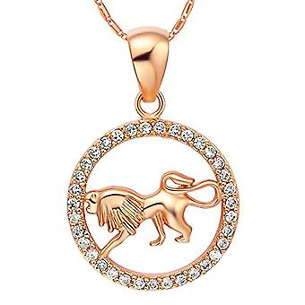 Autiga&reg, Women's Necklace, with zodiac sign pendant of the&rsquo,Aquarium and zircons, gold plated, metal base, color: Ref. 4058433099647