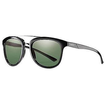 SMITH Clayton/N in D28 53 Sunglasses, Black (Shiny Black/Grey Green Pz), Unisex-Adult